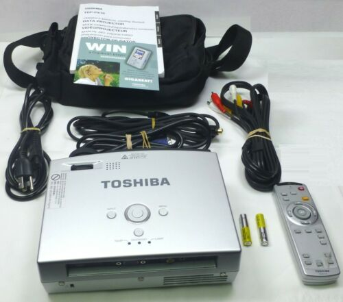 Toshiba TDP-PX10 Mobile Projector with Accessories & Owners Manual plus.