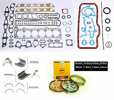 Toyota Supra Turbo 7MGTE Full Gaskets Set Rings Main Rod Bearing Thrust Washer Full Thrust Bearing Set