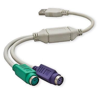 Conversor Adaptador Convertidor USB a doble PS2 PS/2 para Teclado y Raton...