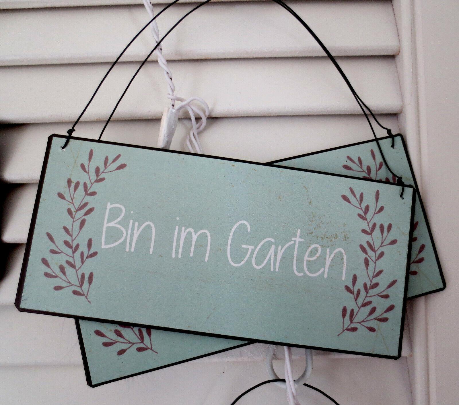 IB Laursen ⚜️Bin im Garten ⚜️Schild⚜️Metall⚜️Landhaus⚜️Shabby⚜️Garten ⚜️ Vintage