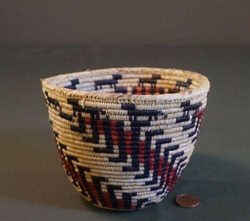 Fine Native American Northwest Skokomish Basket by Richard Cultee Wolves