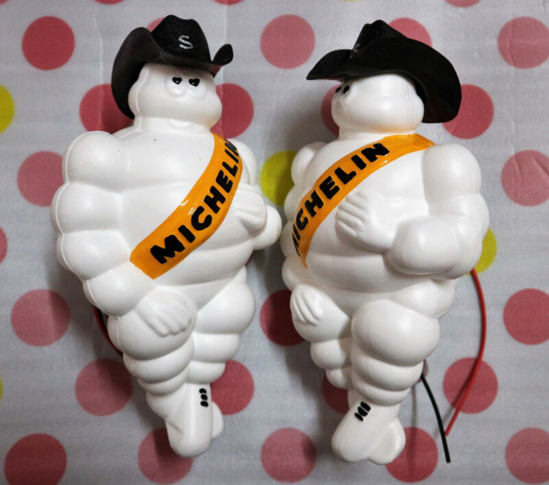 "MICHELIN Man Doll Figure Bibendum Advertise Tire LED Light Limited Vintage 17/"""