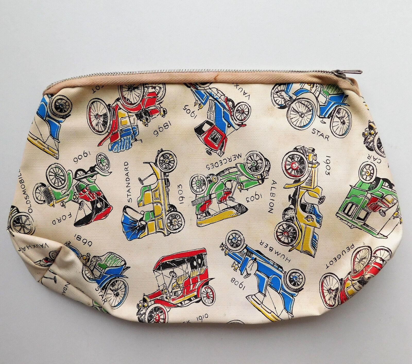 Vintage wash bag with classic car design Mens boys toilet/ sponge bag Buick Star
