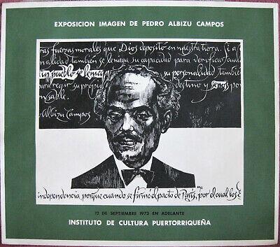 RARE 1973 PEDRO ALBIZU CAMPOS EXPOSITION POSTER