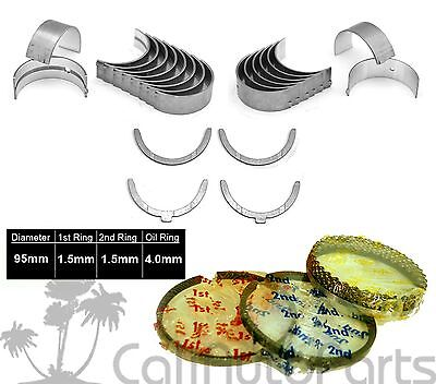 95-04 TOYOTA TACOMA 2.4L 2RZFE DOHC ENGINE NEW PISTON RINGS + ENGINE BEARINGS Dohc Piston Rings