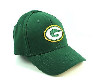 GREEN BAY PACKERS Green Basic Logo Flex Hat Cap NFL OSFA Green Basic Logo Hat