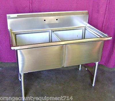 New 2 Compartment 18x18 Sink Stainless Steel Nsf 1081 Commercial Restaurant Bin