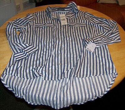 Womens Alexander Jordan blue/white striped shirt size 1x (18/20)