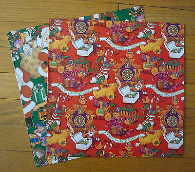Children's Christmas Wrapping Paper Gift Wrap 2 Sheets Santa