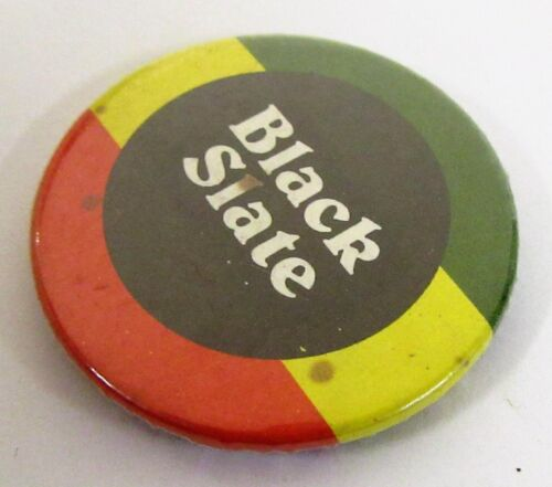 "BLACK SLATE celluloid 1.5"" pinback button REGGAE"