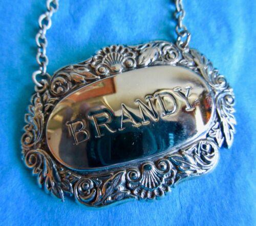 BRANDY Vintage Ornate Decanter Label