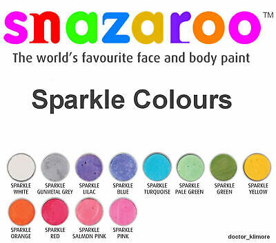 Glitter Body Paint (Snazaroo Sparkle Face Body Paint Costume Cosplay 18ml Make-Up 12 Sparkle Colors )
