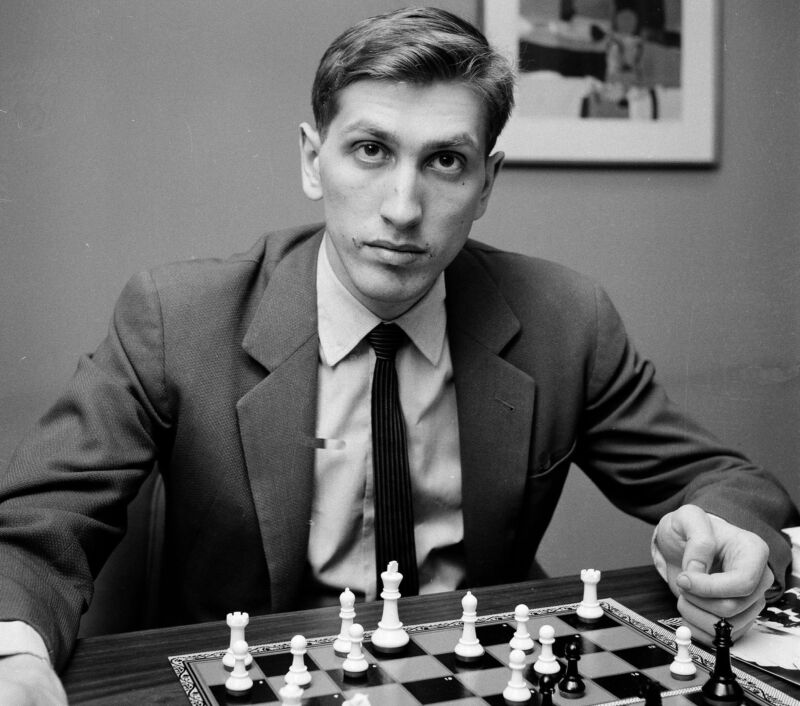 Bobby Fischer Chess Black And White  8x10 Picture Celebrity Print