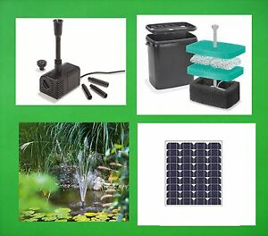 40 w solar teichpumpe filter tauchpumpe garten bachlauf for Solar water filter for ponds