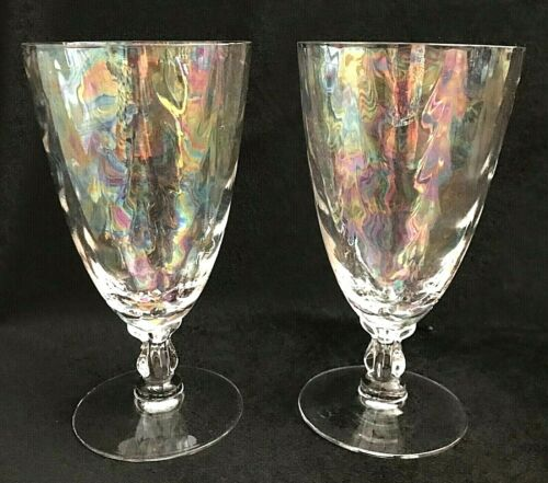 Art Deco Iced Tea Shell Pearl by FOSTORIA Set of 2