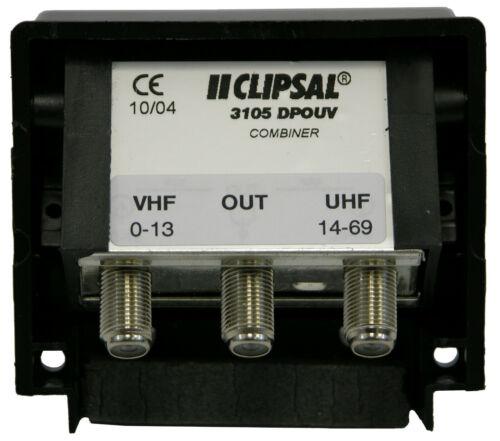 Weatherproof MATV Antenna Combiner/Joiner/Separator, Combines UHF/VHF Antennas
