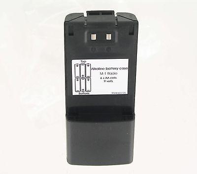 Alkaline Case For Icom M1 Ic-m1 Icm1 Radio Replaces Bp185 Bp186 Batteries