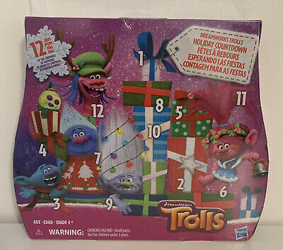 Dreamworks Trolls Holiday Countdown - 12 Days of Toy Surprises - New In Box