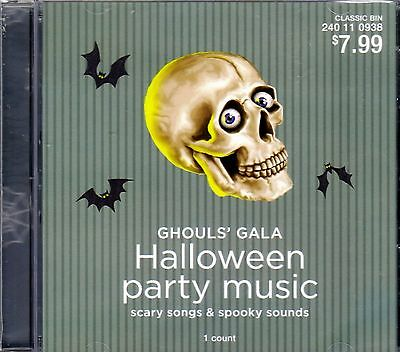 TARGET Ghouls' Gala HALLOWEEN PARTY MUSIC CLASSIC SCARY SONGS & SPOOKY SOUNDS CD