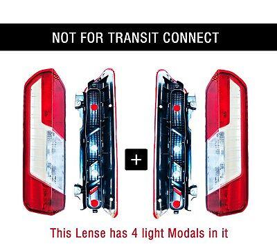 Ford Transit Van Back Tail Light Lamp Cover 4 Bulb Holder RH LH Pair 2014 2015 ()