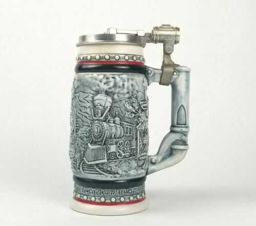 Avon Orient Express Age Of The Iron Horse Trains Railroad 1985 Beer Stein