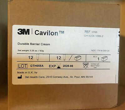 3M Cavilon Durable Barrier Cream, Fragrance Free, 3.25 oz box with 12 pieces Cavilon Durable Barrier Cream