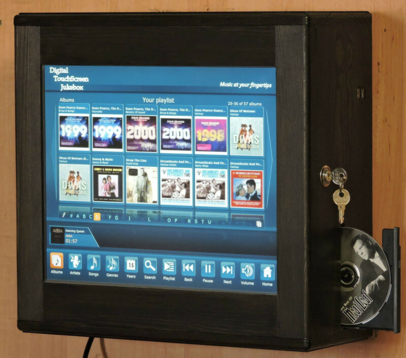 Digital Touchscreen Jukebox Wall Mounted with Airplay or Bluetooth