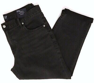 Gap 1969 Best Girlfriend Denim Jeans Stretch Women's Sz 32R Washed Black