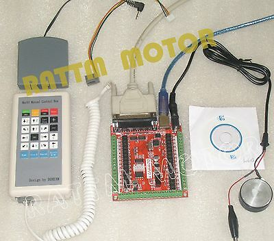 6 Axis Lpt Usb Mach3 Breakout Board W Hand Control For Cnc Routerstepper Motor