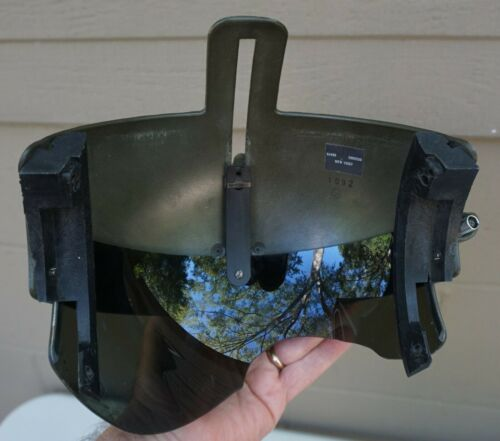Rare AH-64 Apache Pilot visor assy w goggle mount & Steeler art work (H-3 back)