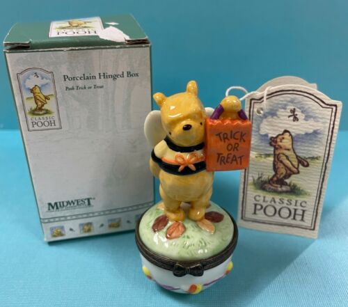 Midwest PHB Trinket Box Classic Pooh Dressed as Bee for Halloween Trick or Treat