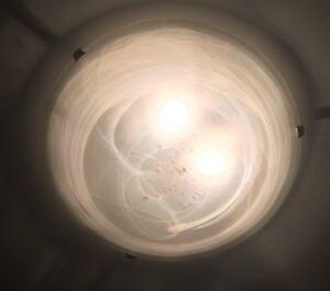 Three Light Flush Mount Ceiling Fixture