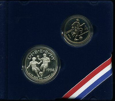1994 World Cup Proof (1994 World Cup Proof Collector's 2-Coin Set with $1 and 50C - Special)
