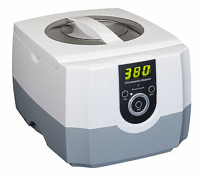 1.3L Ultrasonic Ultra Sonic Cleaner Timer Tank Bath Jewellery Watches Cleaning