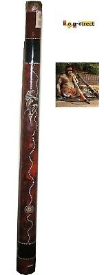 DIDGERIDOO HARDWOOD 120CM ABORIGINAL STYLE BEAUTIFULLY HAND PAINTED NEW BRN