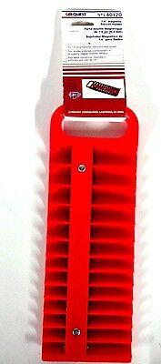 Lisle  1/4 in. Drive Red Magnetic Socket Holder for 26 Sockets 40120 *NOS*