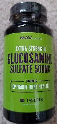 Mav Nutrition Extra Strength Glucosamine Sulfate 500mg, 60 tabs Joint Health NEW