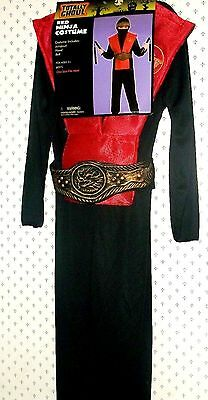 Red Ninja Costume For Boys (Totally Ghoul Red Ninja Costume ~ One Size Fits Most Boys)