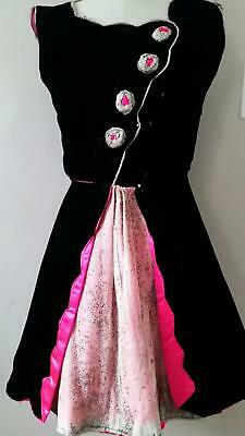 Vintage 1940s Velvet Dance Dress and Hot Pink - Majorettes Kostüme