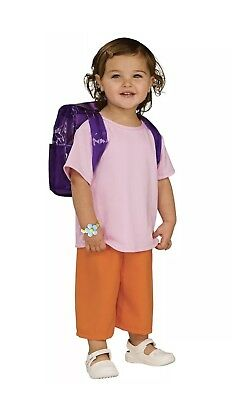 Dora the Explorer Costume Rubies Toddler Child Small New Shirt Pants Backpack
