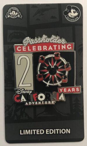 Disney California Adventure Park 2021 Celebrating 20 Years AP Passholder LE Pin
