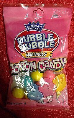 Americas Original Dubble Bubble Cotton Candy Gumballs 4oz Bag Gum Balls (Candy Gumballs)