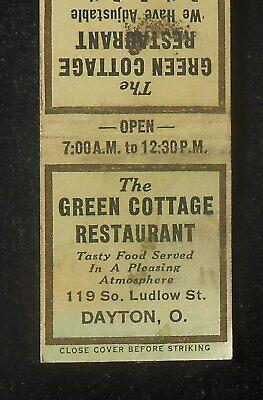 1930s The Green Cottage Restaurant Adjustable Booths 119 So. Ludlow St Dayton (Dayton The Greene)