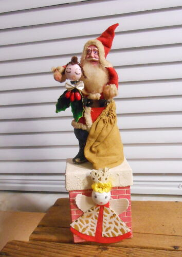 Vintage Japan Santa on Chimney Candy Container