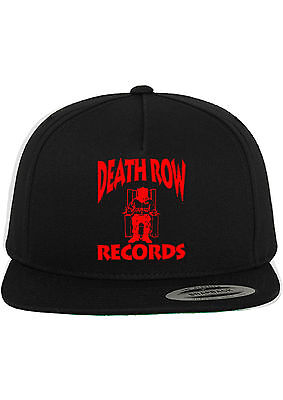 Death Row Records Snapback Hat Adjustable Baseball Cap New - Black w/ Red