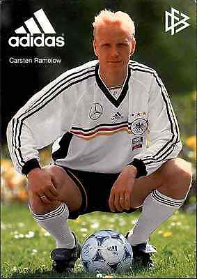Fussball Soccer Football Sport Postkarte von DFB Adidas Porträt CARSTEN RAMELOW