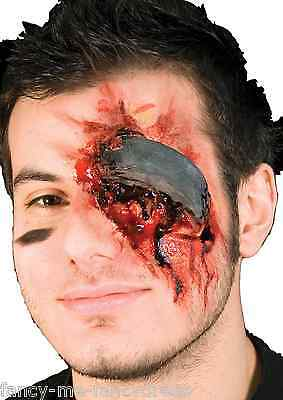 Halloween Zombie Hockey Puck Bloody Special Effects Make Up Fancy Dress Costume
