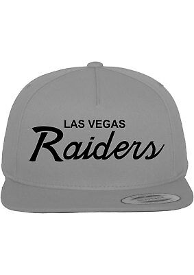 Las Vegas Raiders Script NFL Custom EMBROIDERED Snapback Hat-Gray w/ black](Custom Raiders Hat)