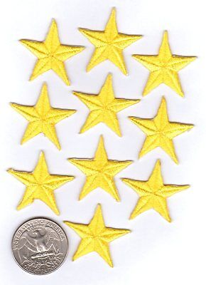 Yellow Star Iron On Patches - 10-pack](Yellow Star)