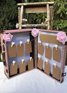 SASS & BELLE Vintage Table plan SUITCASE BOX WOODEN WEDDING Planner Suitcase